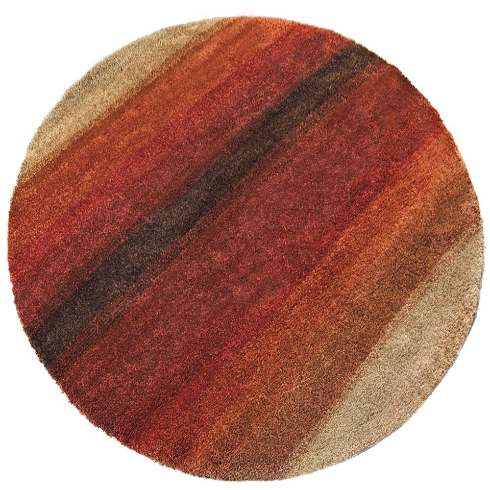 Orian Rugs Layers Lava 7 ft. 10 in. Round Area Rug