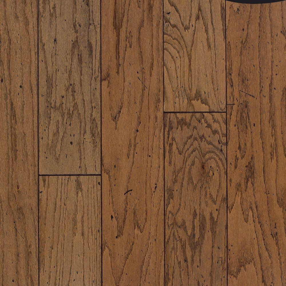 Cliffton Rustic Oak Antique Engineered Click Hardwood Flooring - 5 in. x 7 in. Take Home Sample, Honey