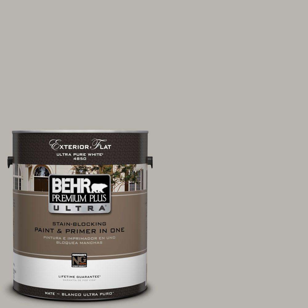 BEHR Premium Plus Ultra 1-Gal. #UL260-9 Ashes Flat Exterior Paint