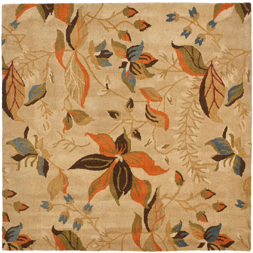 Blossom Beige/Multi 6 ft. x 6 ft. Square Area Rug