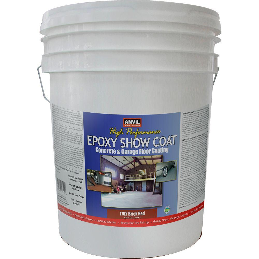 ANViL 5-gal. Brick Red Epoxy Show Coat Interior/Exterior Concrete and Garage Floor Coating-DISCONTINUED
