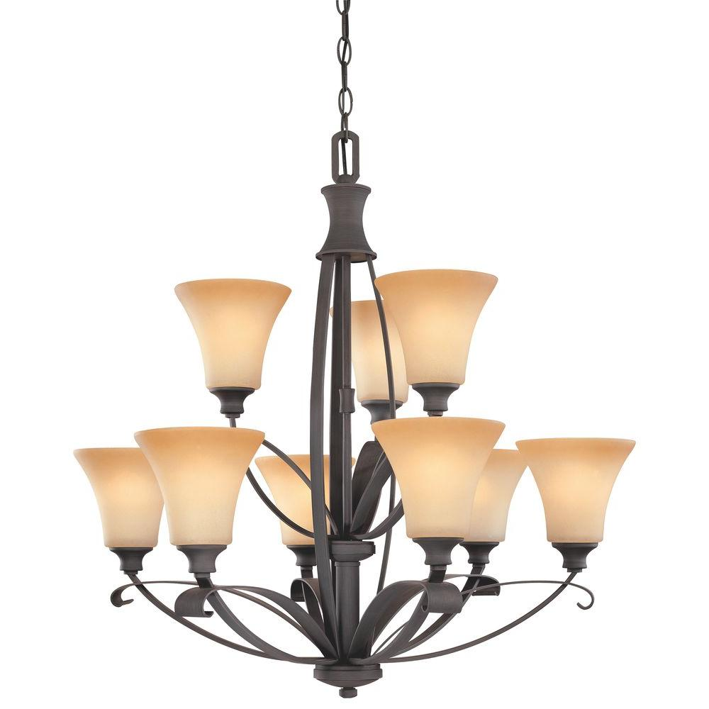 Thomas Lighting Magnolia 9-Light Painted Bronze Chandelier-DISCONTINUED