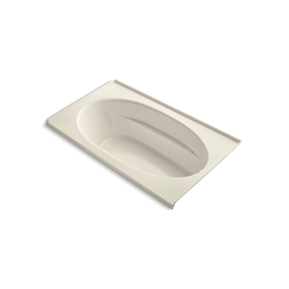 Windward 6 ft. Acrylic Oval Drop-in Whirlpool Bathtub in Almond