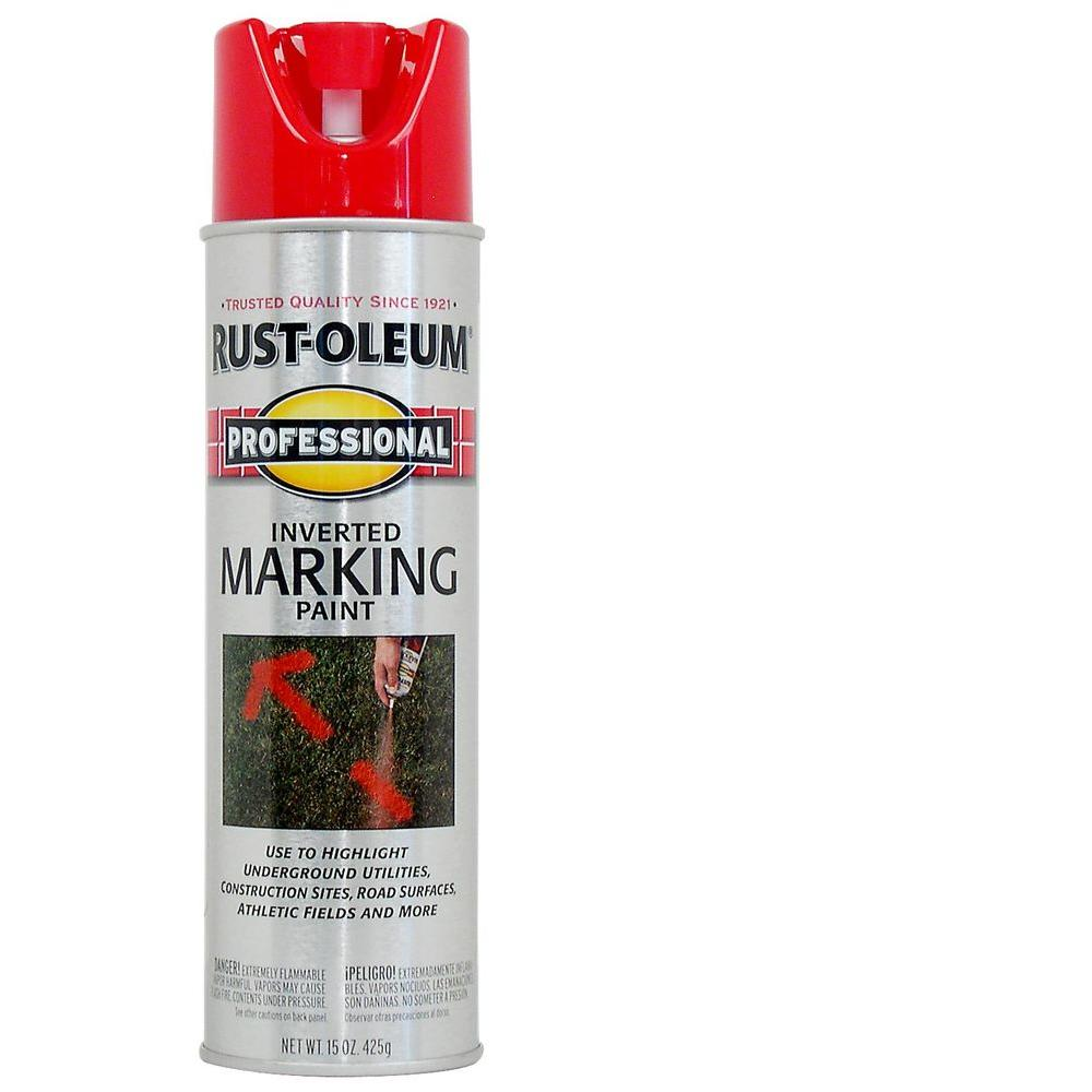 Rust Oleum Professional 15 Oz Flat Fluorescent Green Inverted Marking Spray Paint 207464 The