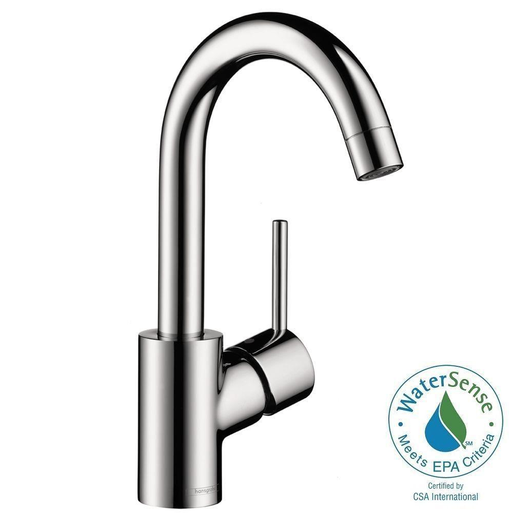 Hansgrohe Talis S 190 Single Hole 1-Handle Bathroom Faucet in Chrome-32070001