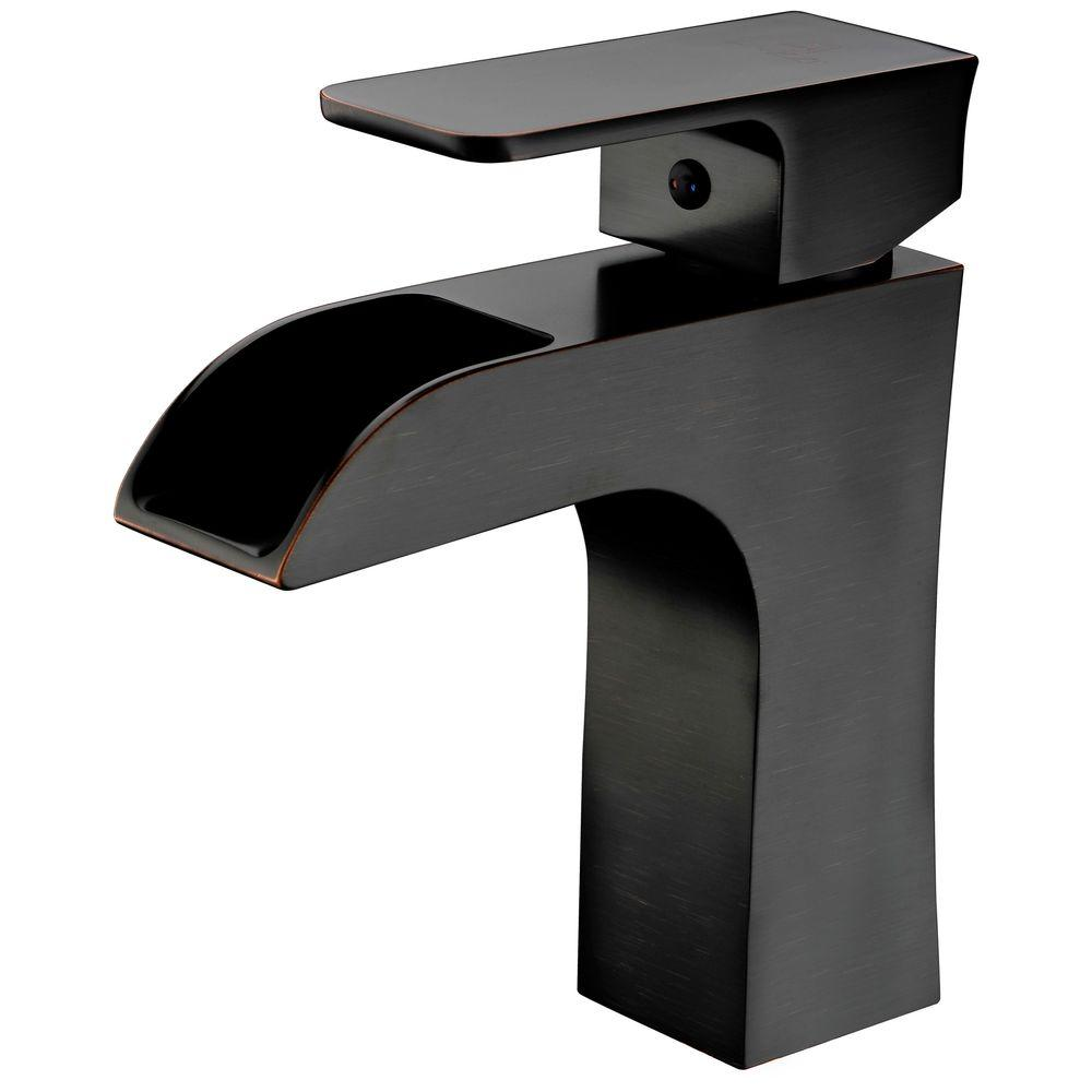 Forza Series Single Hole Single-Handle Low-Arc Bathroom Faucet in Oil Rubbed