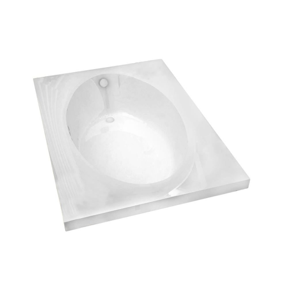 Universal Tubs Imperial 7 ft. Acrylic Center Drain Rectangular Drop-in Non-Whirlpool Bathtub in White
