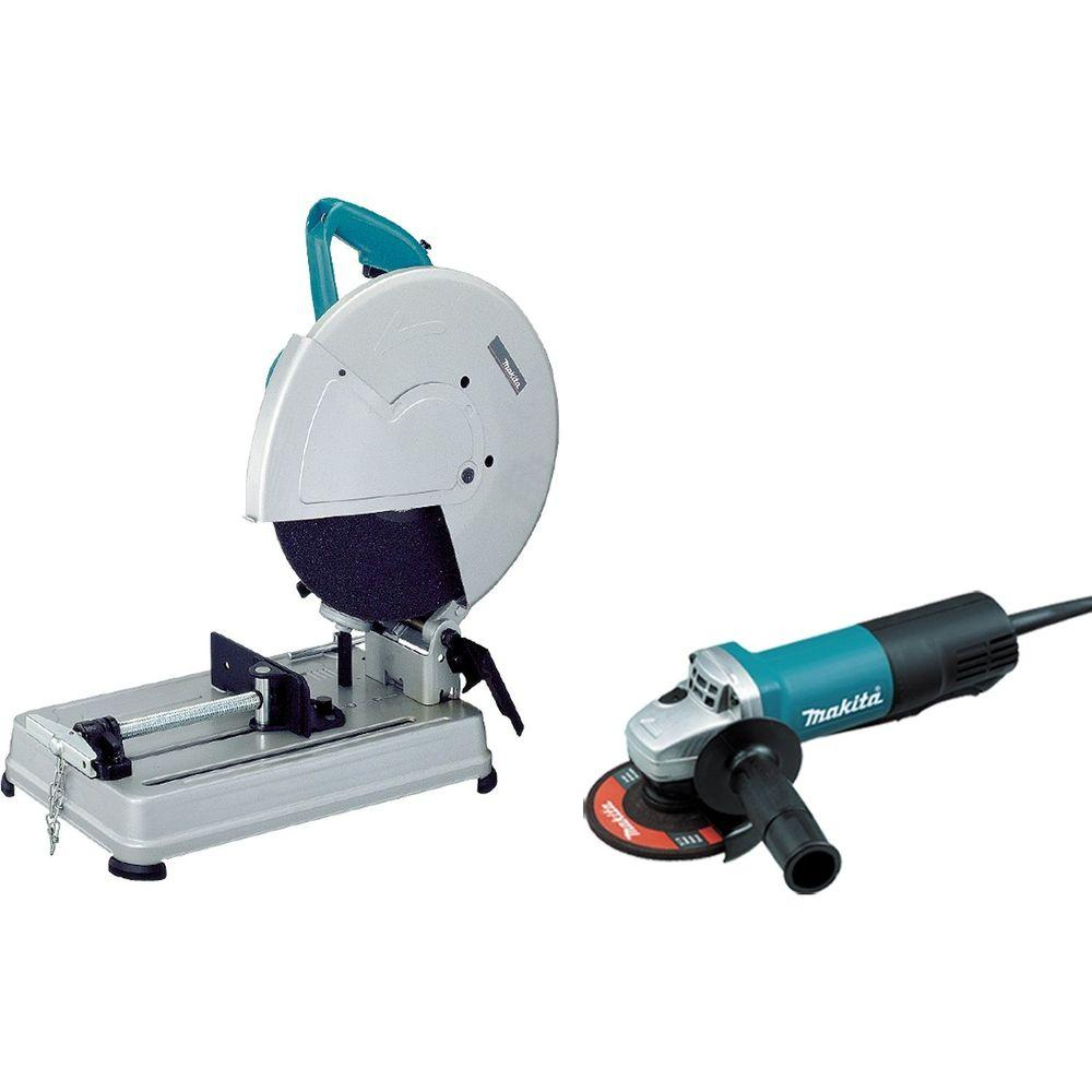 Makita 15-Amp 14 in. Cut-Off Saw with 4-1/2 in. Grinder