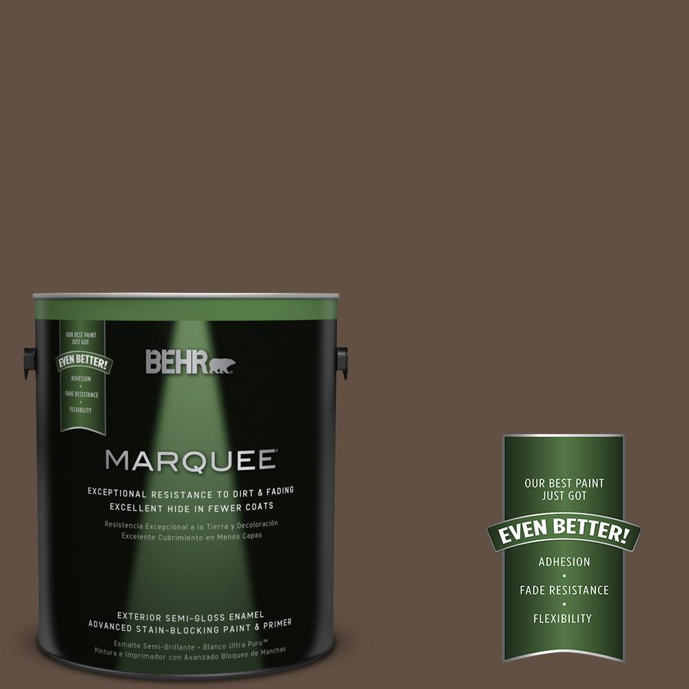BEHR MARQUEE 1-gal. #UL170-1 Pine Cone Semi-Gloss Enamel Exterior Paint-545301 -