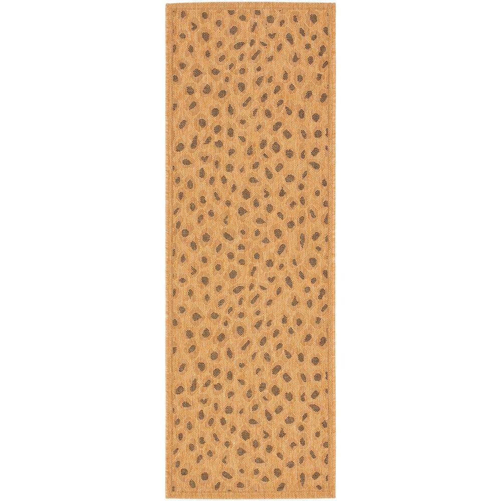Courtyard Natural/Gold 2 ft. 3 in. x 6 ft. 7 in.