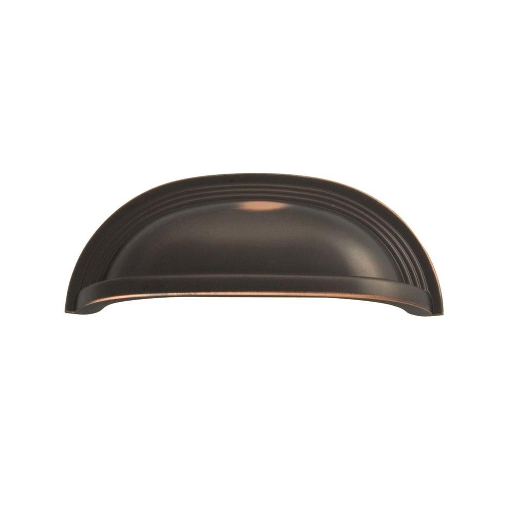 Hickory Hardware Deco 96 mm Oil-Rubbed Bronze Cup Pull-P3104-OBH - The