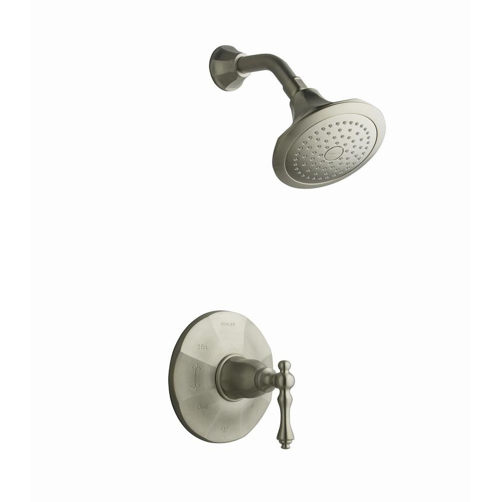 Kelston Shower Faucet Trim in Vibrant Brushed Nickel (Valve Not Included)