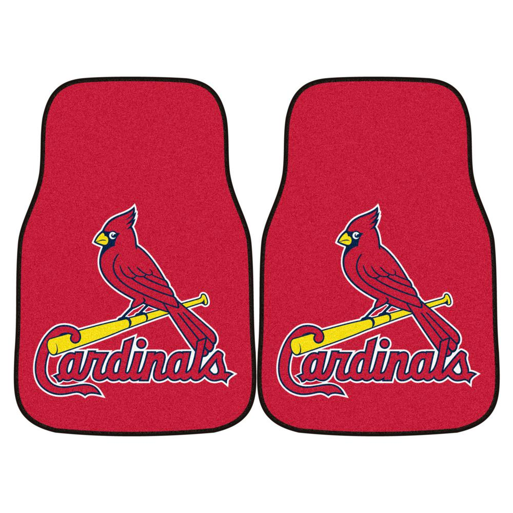 FANMATS St. Louis Cardinals 18 in. x 27 in. 2-Piece Carpeted