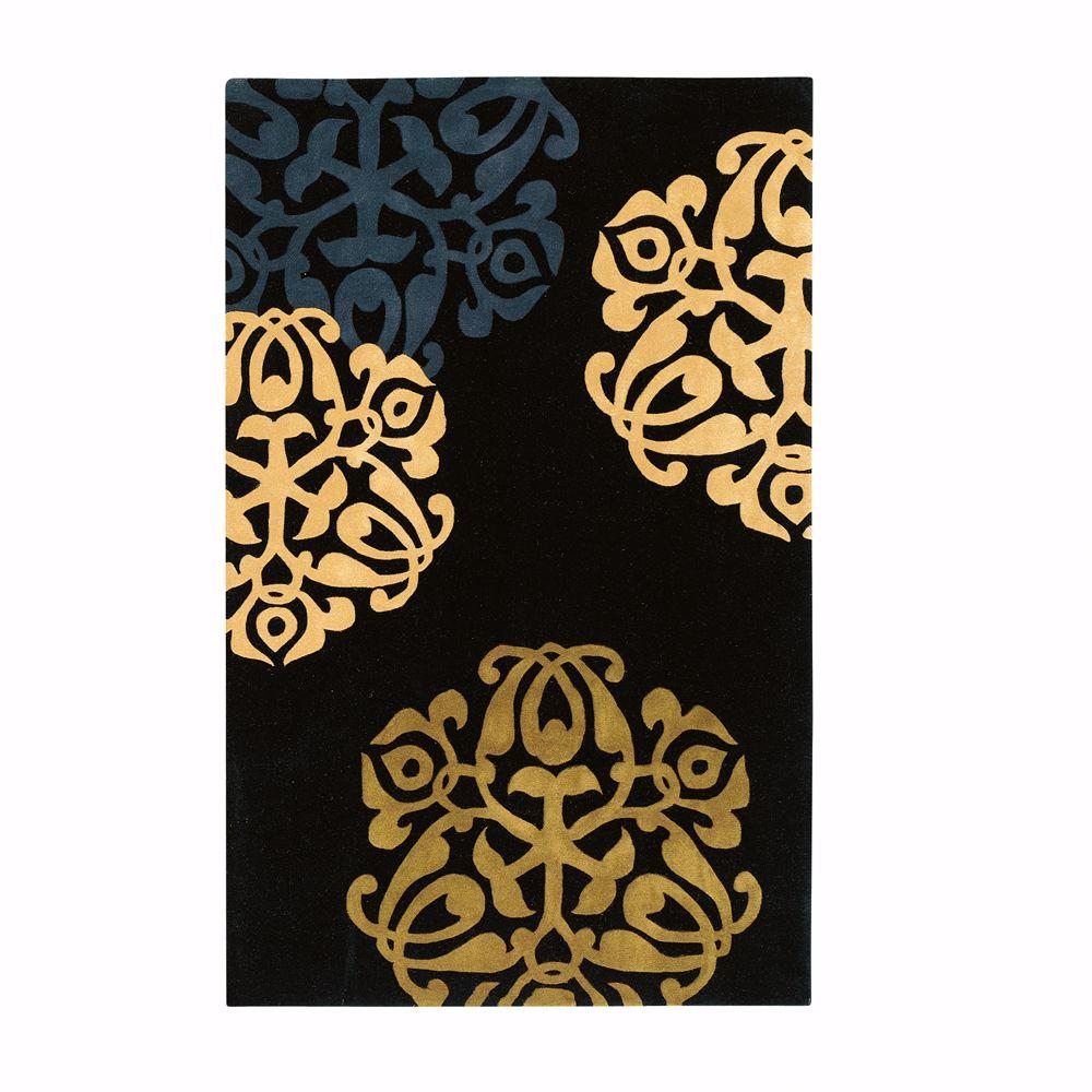 Home Decorators Collection Chadwick Black/Gold 3 ft. x 5 ft. Area Rug