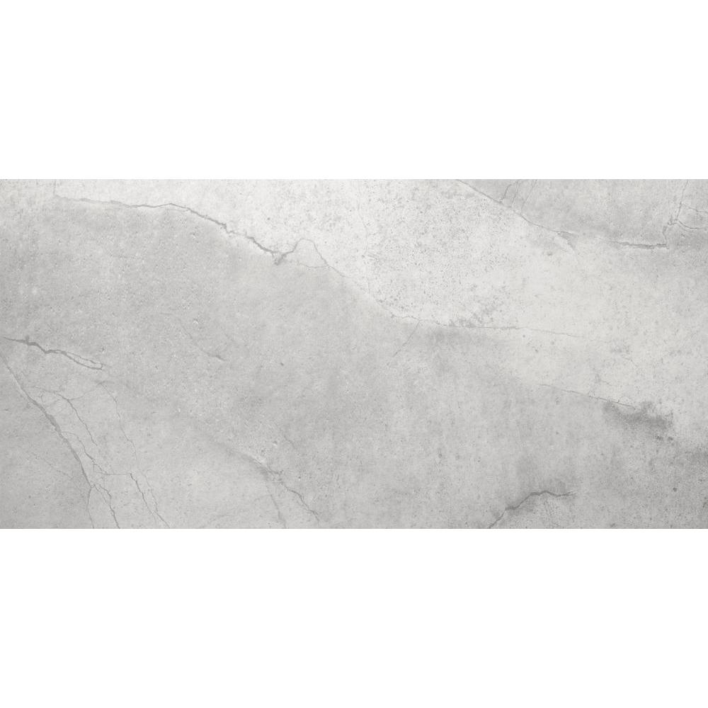 Boca Gray 12 in. x 24 in. Porcelain Floor and Wall