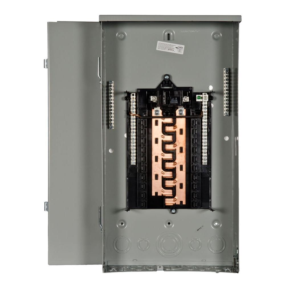 Siemens PL Series 100 Amp 20-Space 20-Circuit Main Breaker Outdoor Load Center