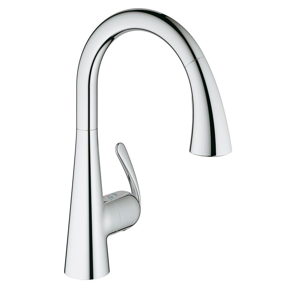 grohe ladylux3 cafe single handle pull down sprayer kitchen faucet