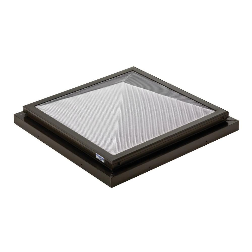 Prismatic 2 ft. x 2 ft. Fixed Curb-Mounted Pyramid Skylight
