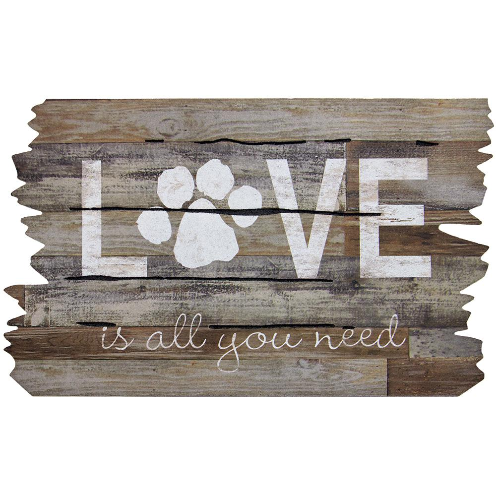 Apache Mills Love Is All You Need Paw Print 18 In X 30 In