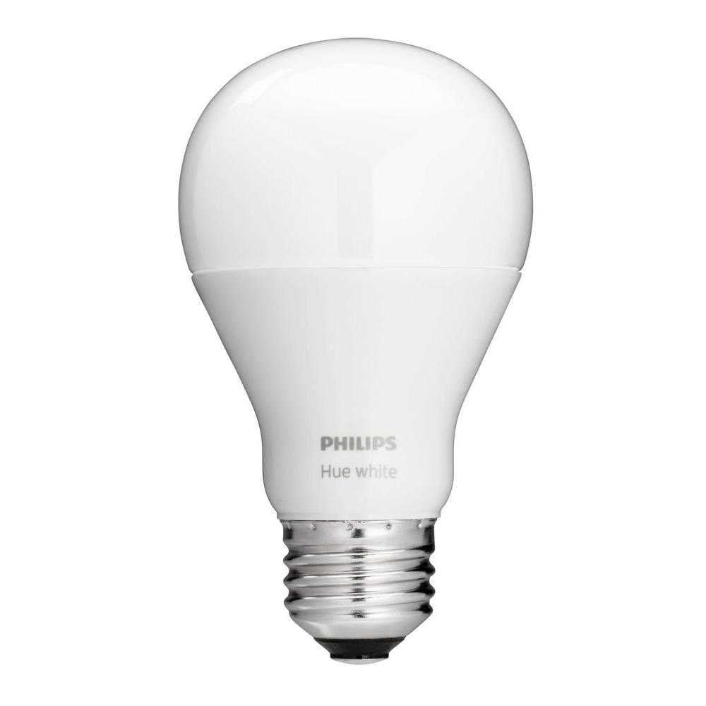 Philips Philips Hue White Ambiance A19 60W Equivalent Dimmable LED Smart  Bulb 455295   The Home Depot. Philips Philips Hue White Ambiance A19 60W Equivalent Dimmable LED