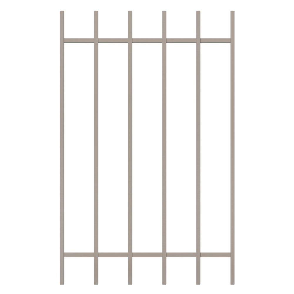 Unique Home Designs Guardian 30 in. x 48 in. Tan 6-Bar Window Guard-DISCONTINUED
