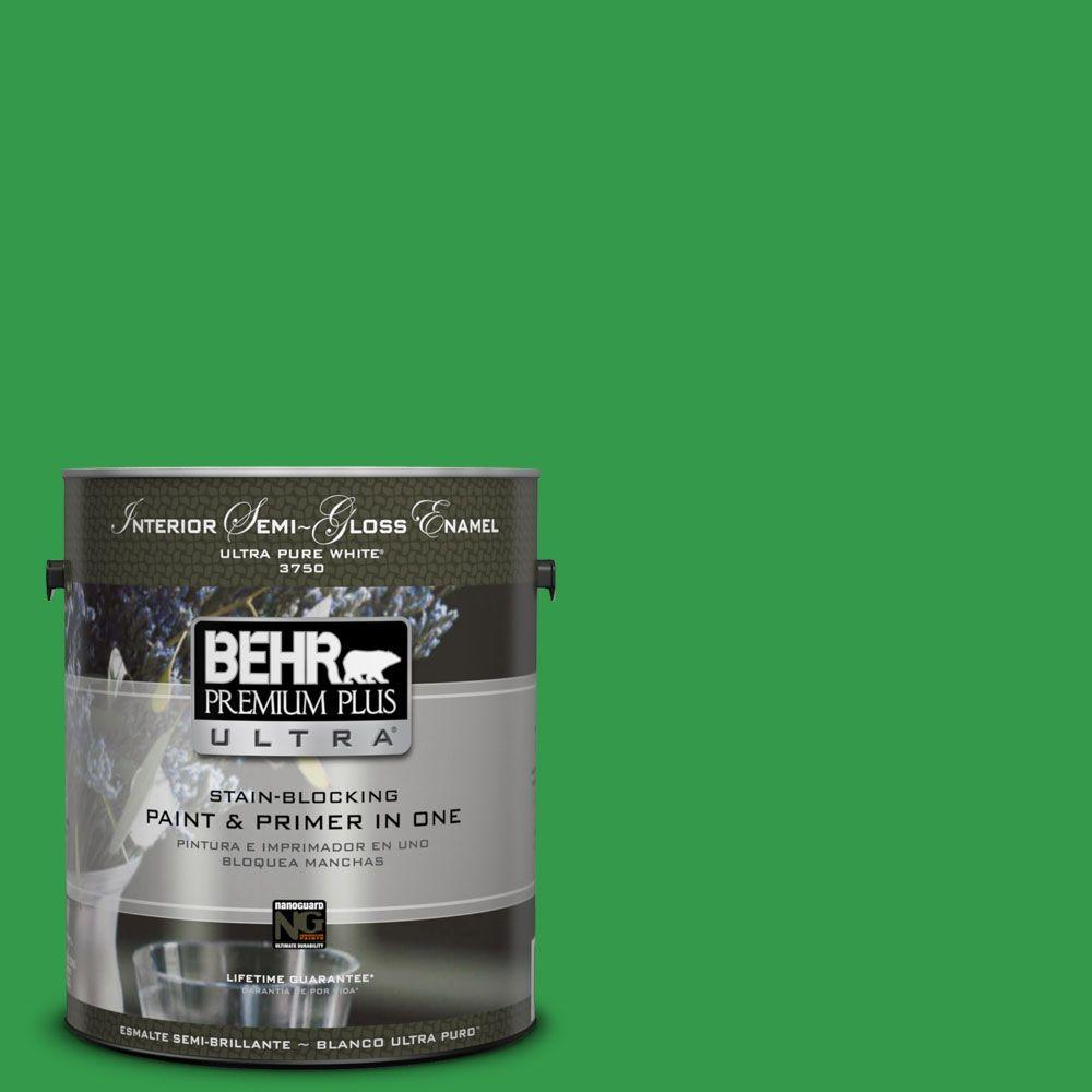 1-gal. #450B-6 Formal Garden Semi-Gloss Enamel Interior Paint