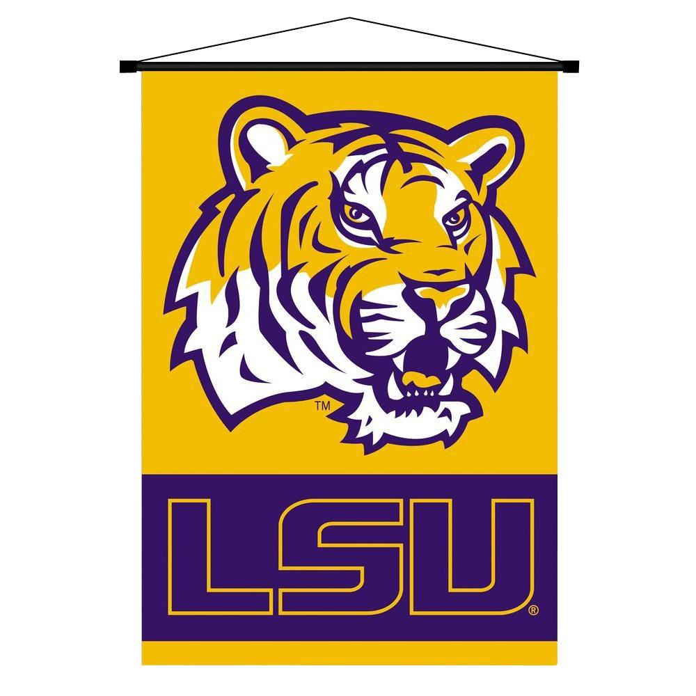 BSI Products NCAA Louisiana State Tigers Indoor 3 ft. 3 in. x 2 ft. 3 in. Banner Scroll