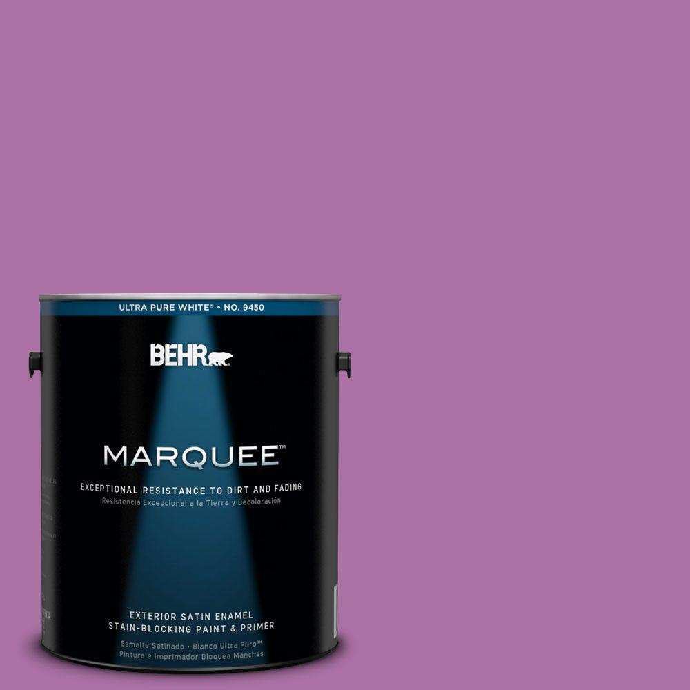 BEHR MARQUEE 1-gal. #670B-6 Orchid Kiss Satin Enamel Exterior Paint-945301 -