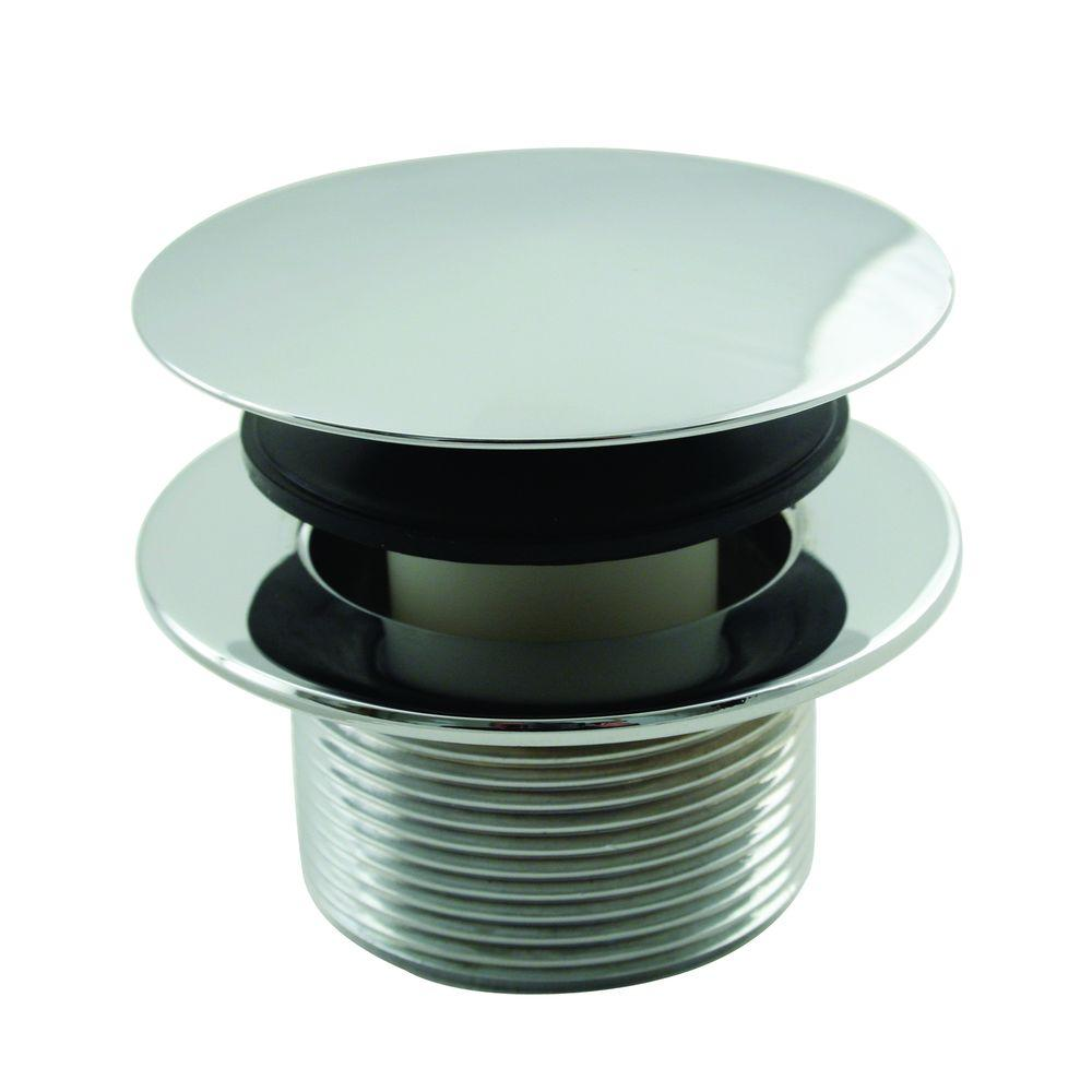 1-1/2 in. NPSM Round Mushroom Coarse Thread Drain in Polished Chrome