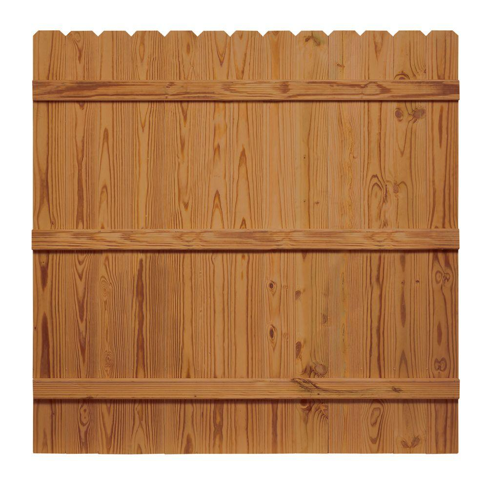 null 6 ft. H x 6 ft. W Pressure-Treated Cedar-Tone Moulded Fence Kit