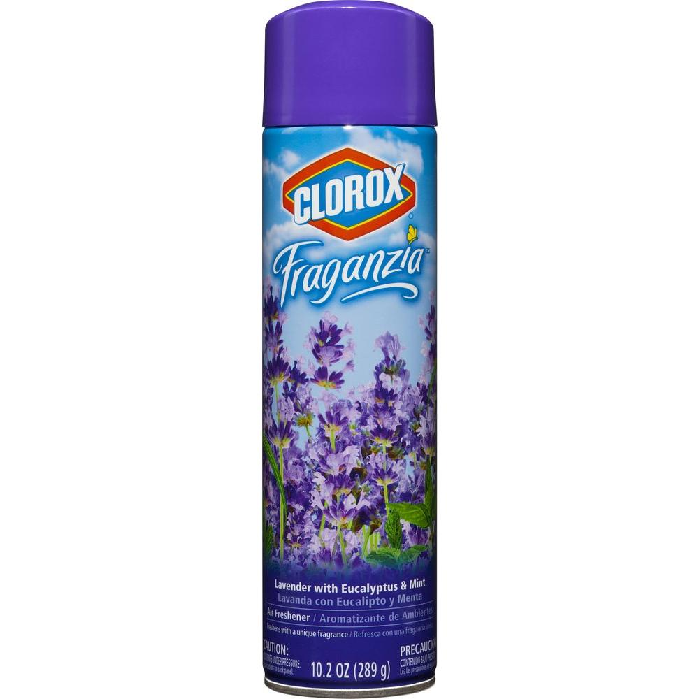 Clorox 10 2 Oz Lavender With Eucalyptus And Mint Air Freshener Spray 4460030748 The Home Depot