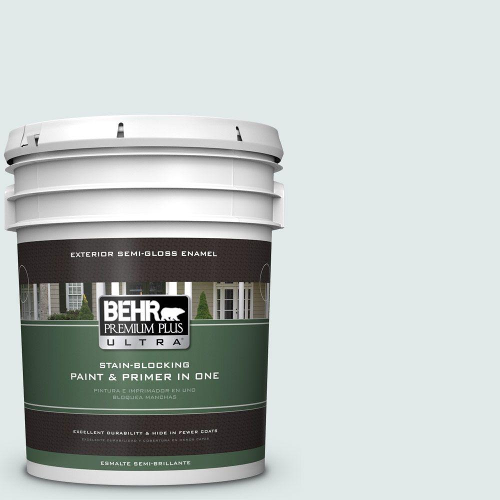 5-gal. #W-D-520 Clear View Semi-Gloss Enamel Exterior Paint