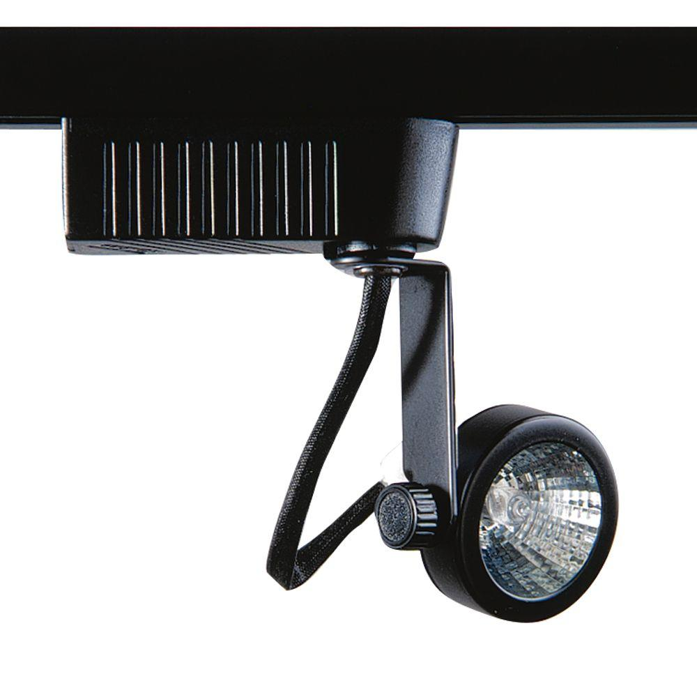 201 Series Low-Voltage MR16 Black Gimball Style Track Lighting Fixture