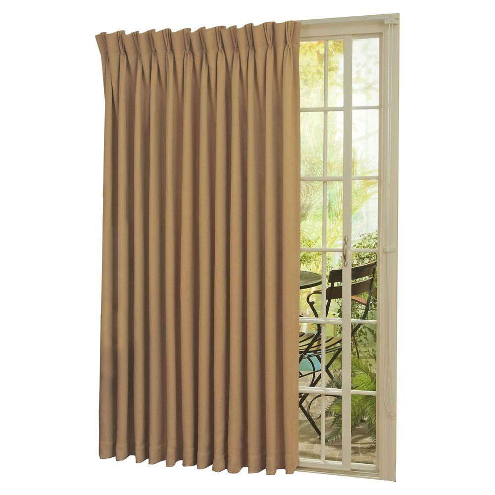 Patio Door Curtain Eclipse Blackout Thermal Blackout Patio Door 84 In L Curtain