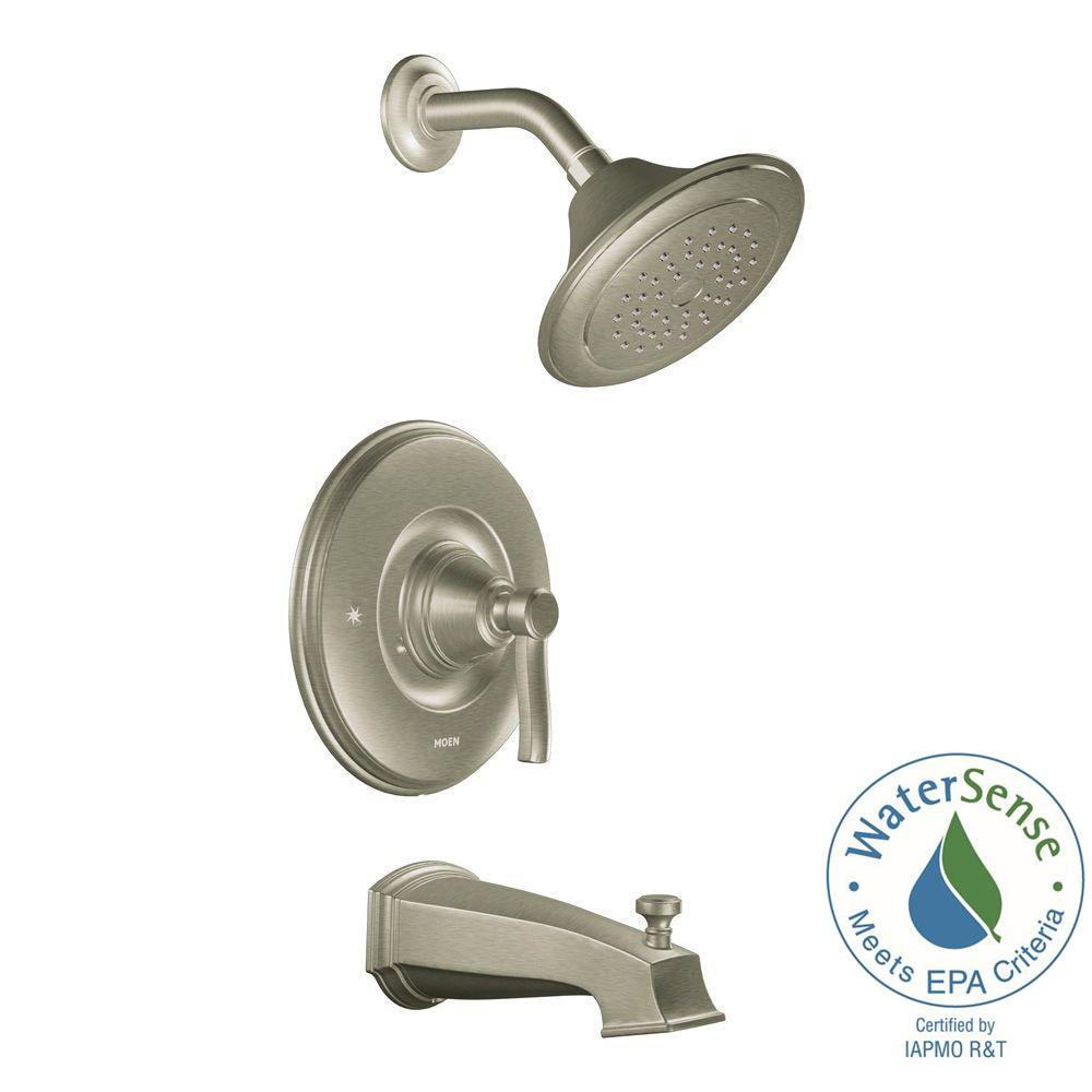 MOEN Rothbury Posi-Temp Single-Handle 1-Spray Tub and Shower Faucet Trim Kit in Brushed Nickel (Valve Not Included)