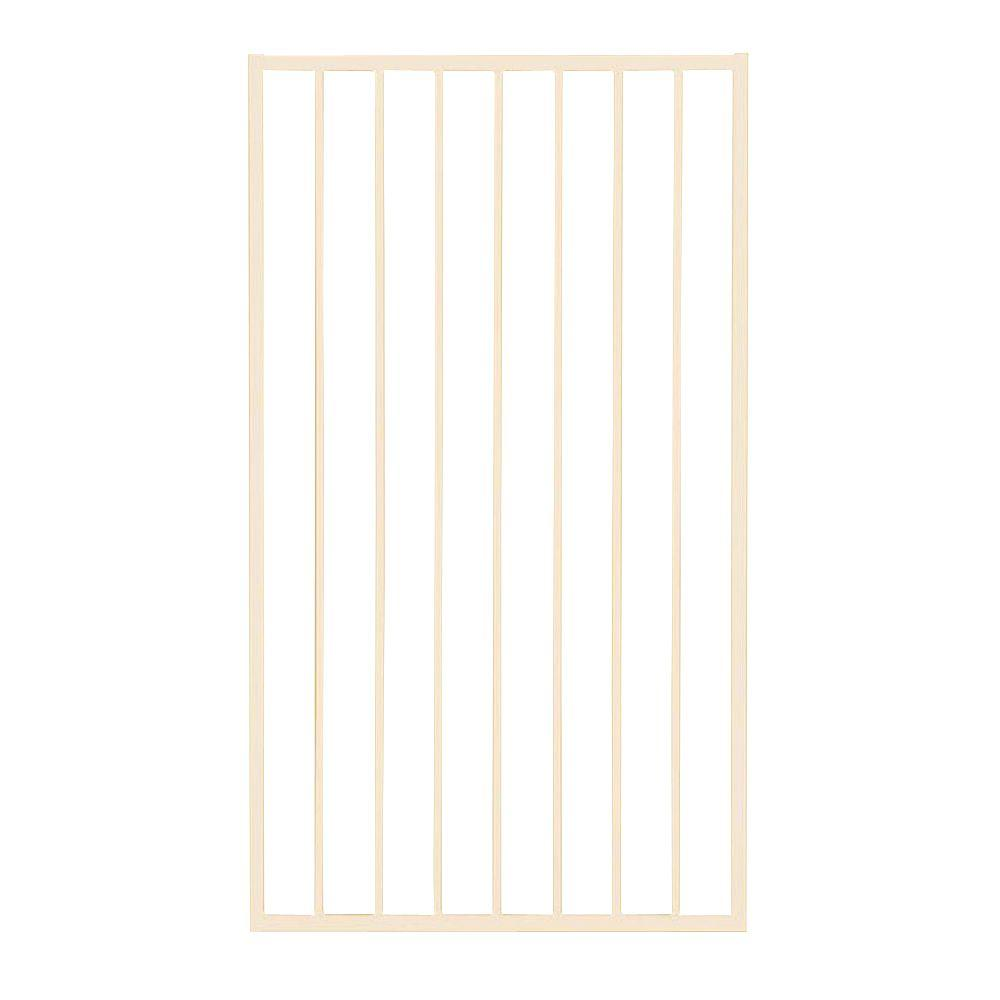 First Alert Premium Series 3 ft. W x 5 ft. H White Steel Fence Gate