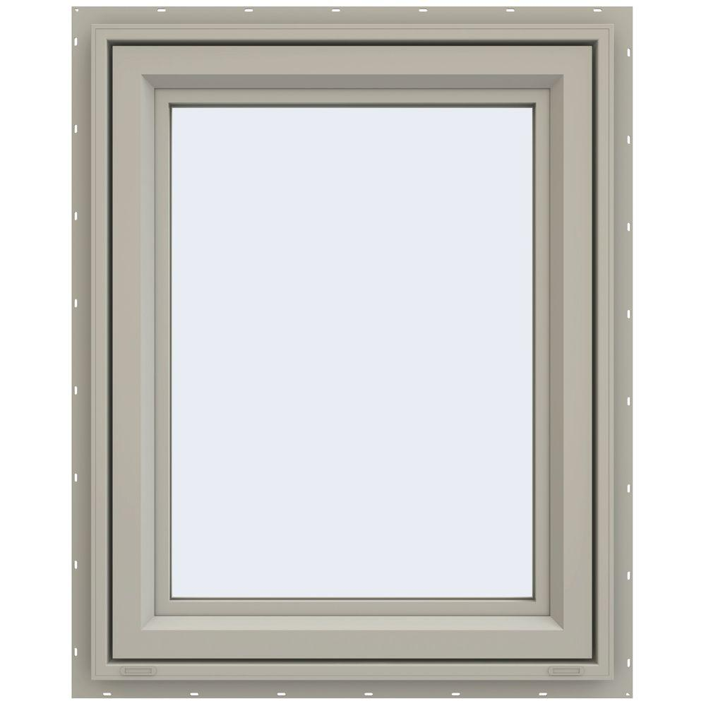 JELD-WEN 29.5 in. x 35.5 in. V-4500 Series Right-Hand Casement Vinyl Window - Tan