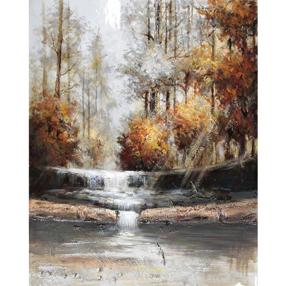 "Yosemite Home Decor 40 in. x 50 in. ""Natural Perspective III"" Hand Painted Contemporary Artwork"