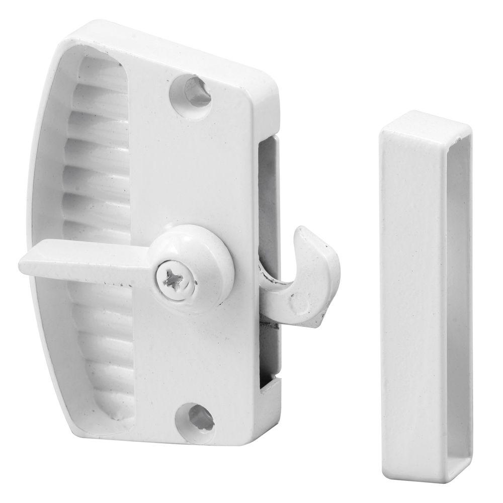 Prime-Line White Screen Door Latch and Pull