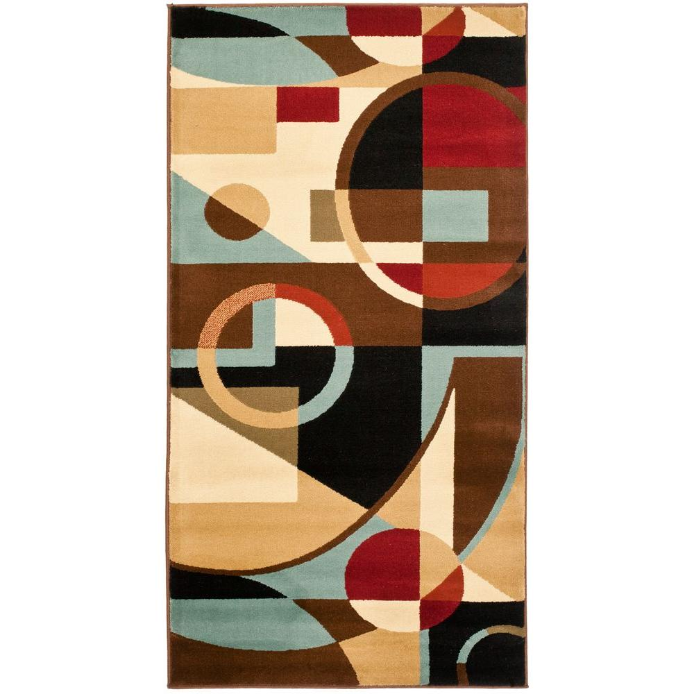 Porcello Black/Multi 2 ft. x 3 ft. 7 in. Area Rug