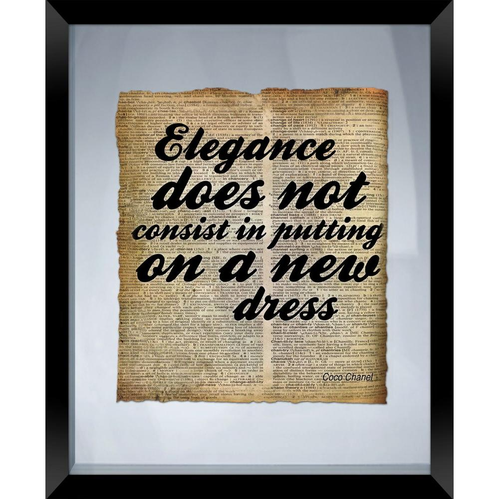 "PTM Images 22 in. x 18 in. ""Elegance"" Framed Wall Art"