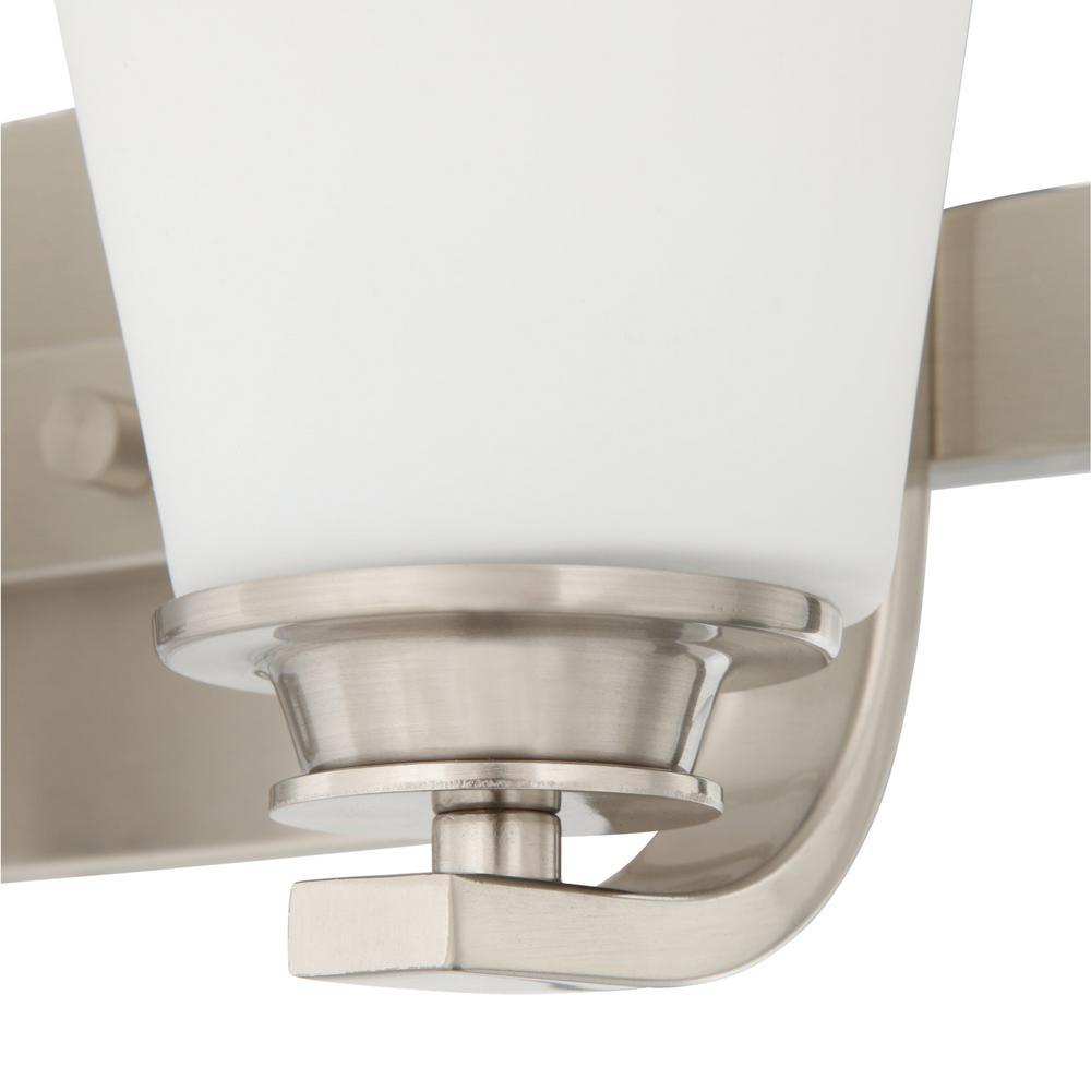 maxim lighting conical 3 light satin nickel bath vanity light rh homedepot com