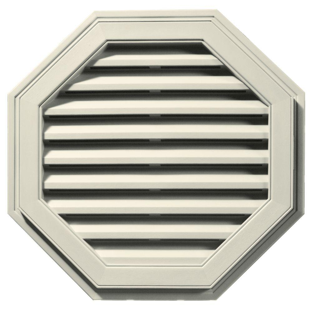 27 in. Octagon Gable Vent in Linen