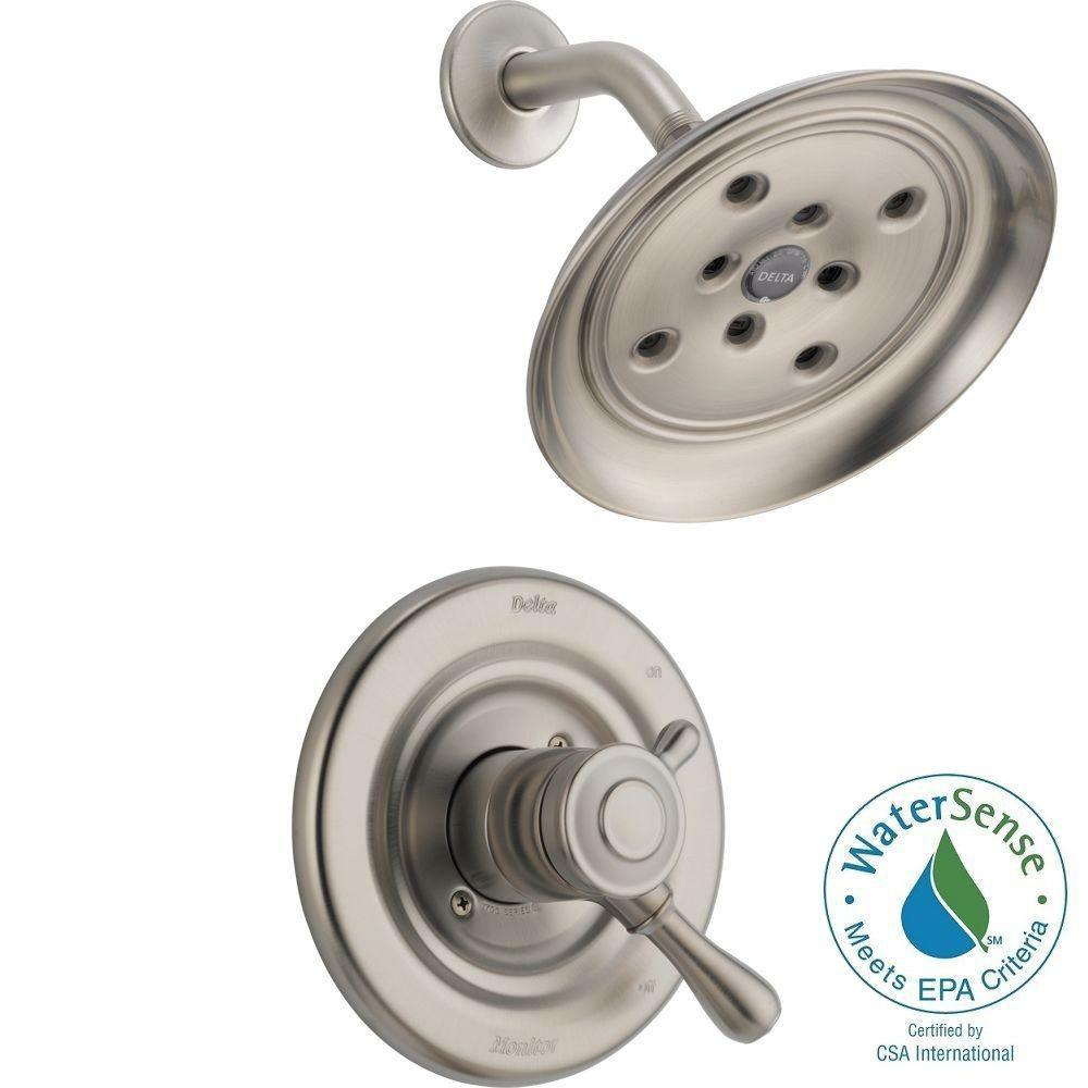 Delta Leland 1-Handle H2Okinetic Shower Only Faucet Trim Kit in Stainless (Valve Not Included)