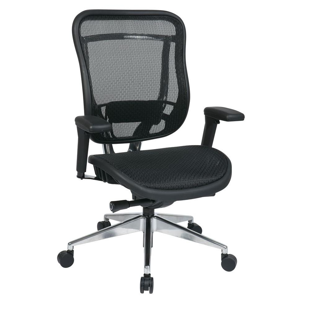 Space Seating Big & Tall Executive High Back Chair in Black-818A-11P9C1A7U