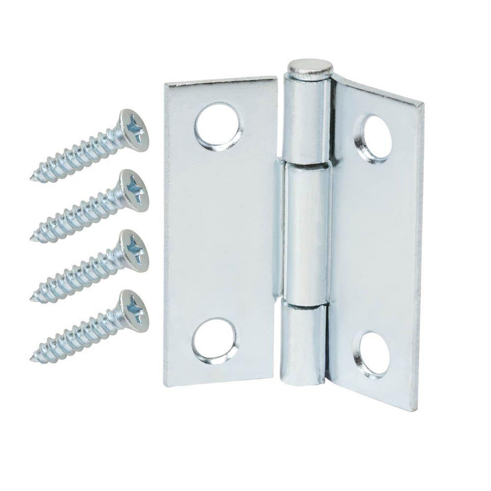 1-1/2 in. Zinc-Plated Narrow Utility Hinge (2-Pack)