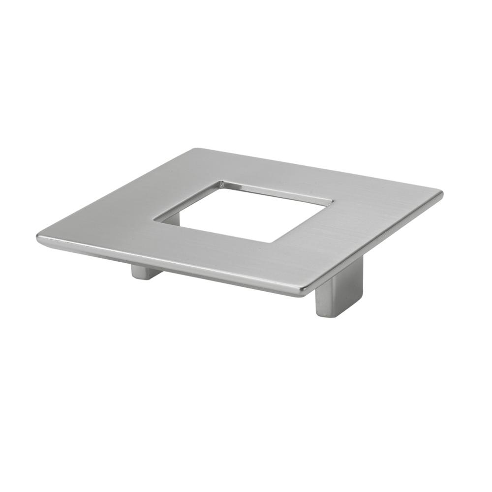 Italian Designs Collection 2.5 in. Center to Center Satin Nickel Square
