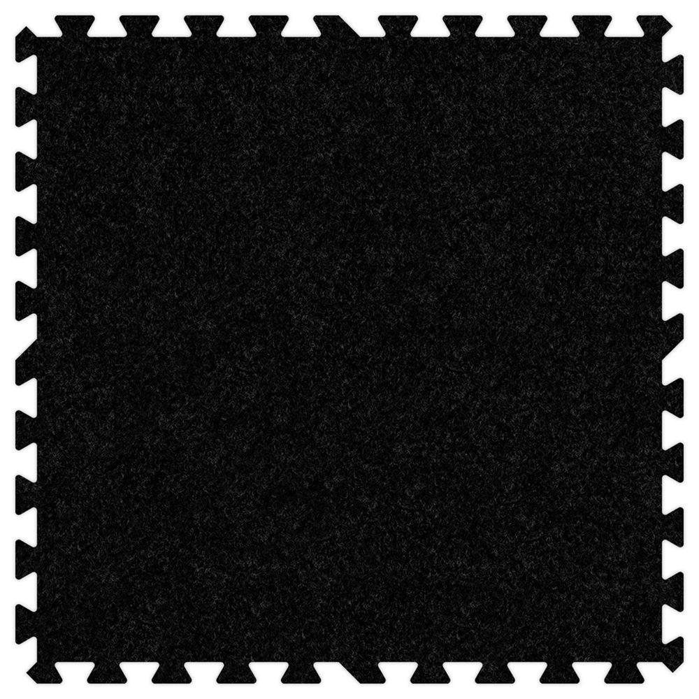 Black 24 in. x 24 in. Comfortable Carpet Mat (100 sq.