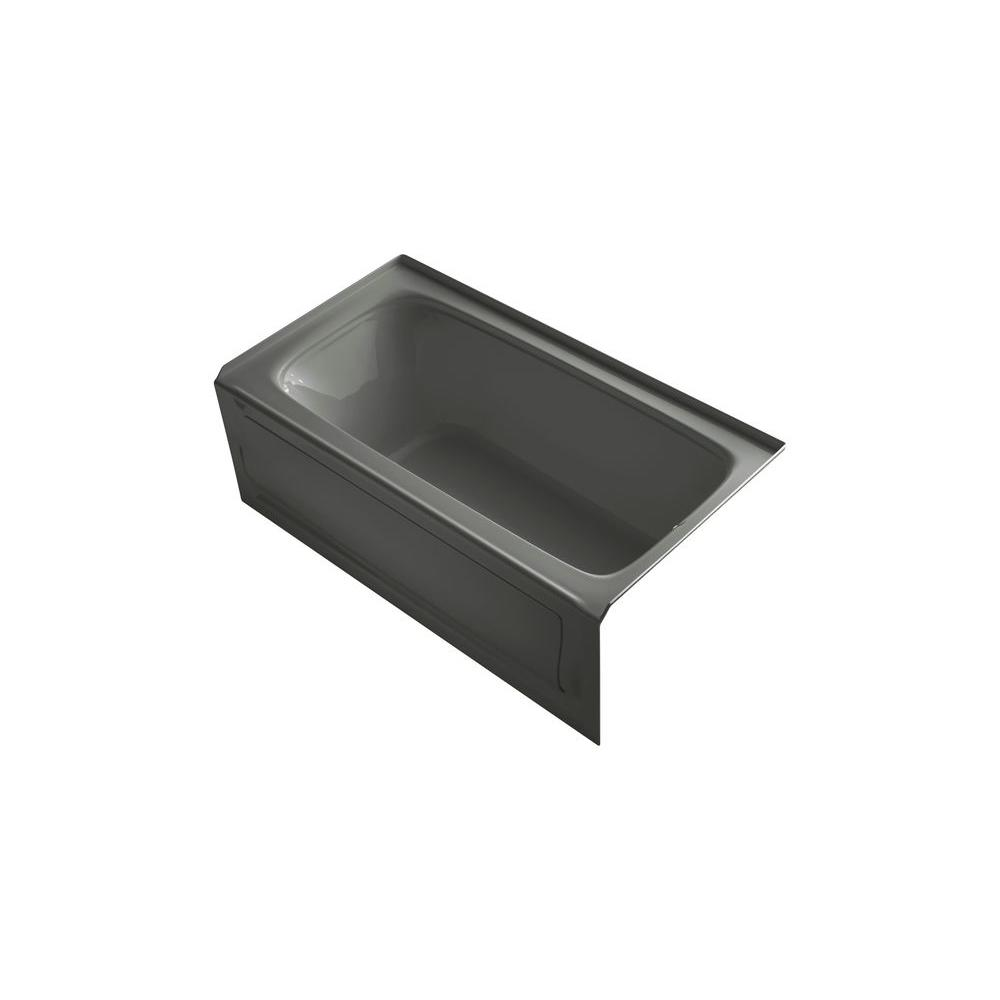 KOHLER Bancroft 5 ft. Whirlpool Tub in Thunder Grey-DISCONTINUED