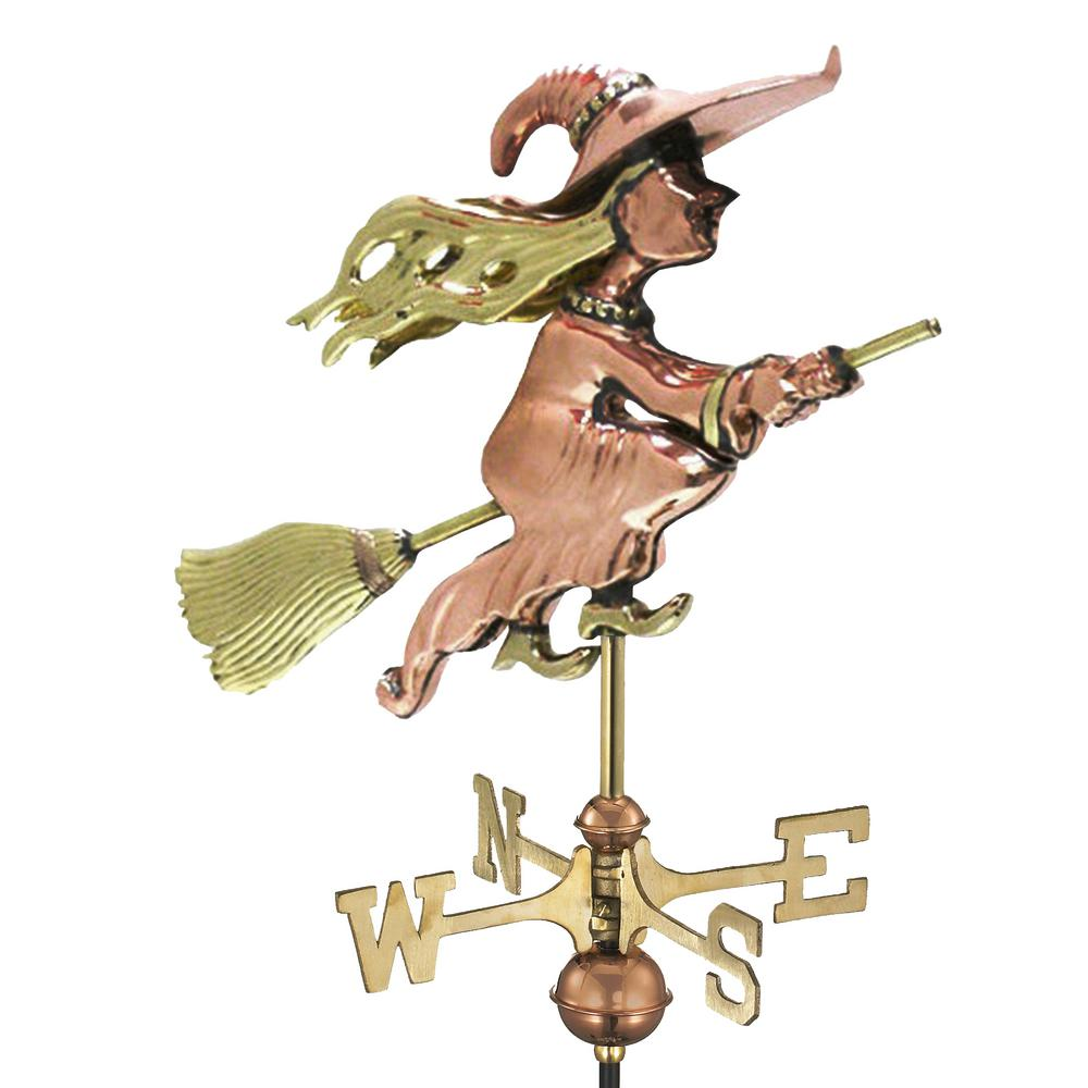 Good Directions Witch Garden Weathervane - Pure Copper with Garden Pole